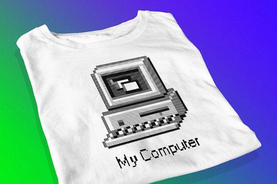 My Computer  Retro Screen Printed T-Shirt by yoinkprintshop