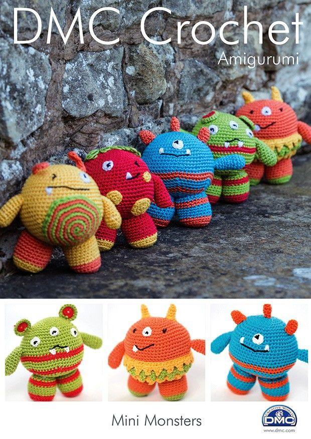 DMC Crochet Mini Monsters (15049L/2) | Deramores