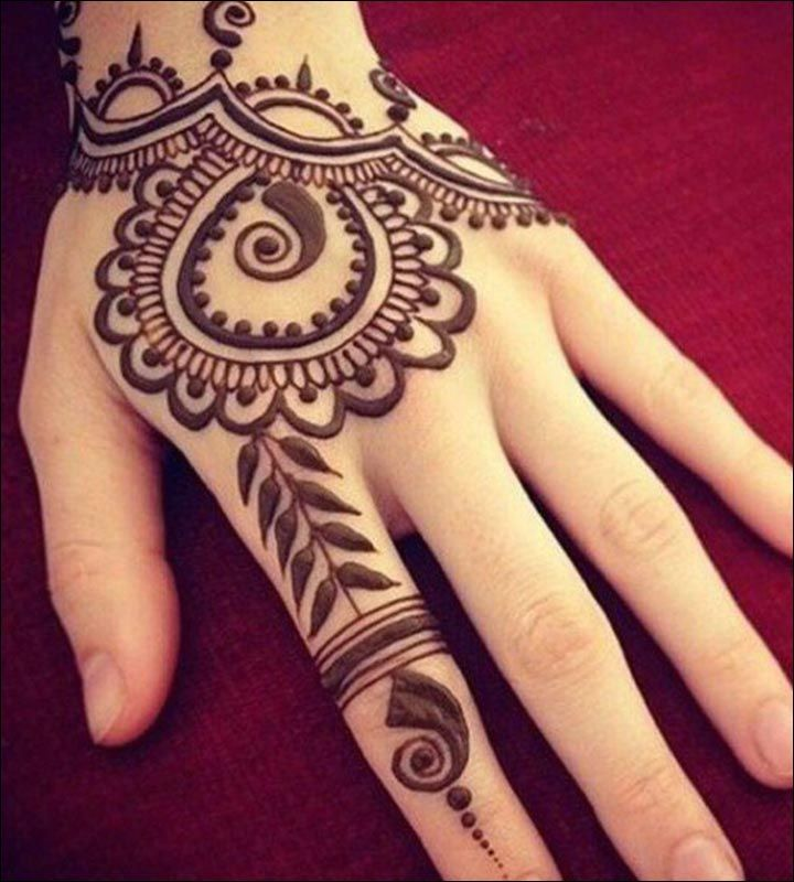 Simple Mehndi Designs That Look Fab And Stylish Henna