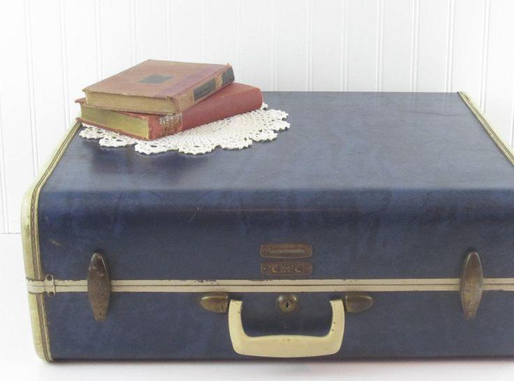 Vintage Samsonite Hard Case Suitcase / Luggage ~ Blue Marble - http://oleantravel.com/vintage-samsonite-hard-case-suitcase-luggage-blue-marble