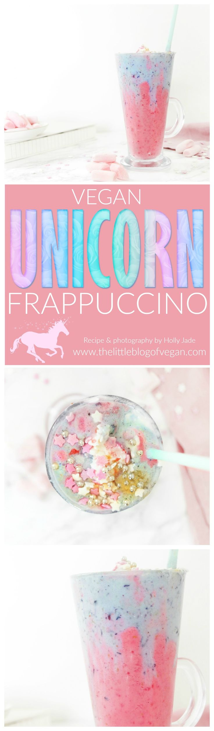 A magical & mystical vegan unicorn drink, with raspberry, blueberry, coconut and a dash of magic.