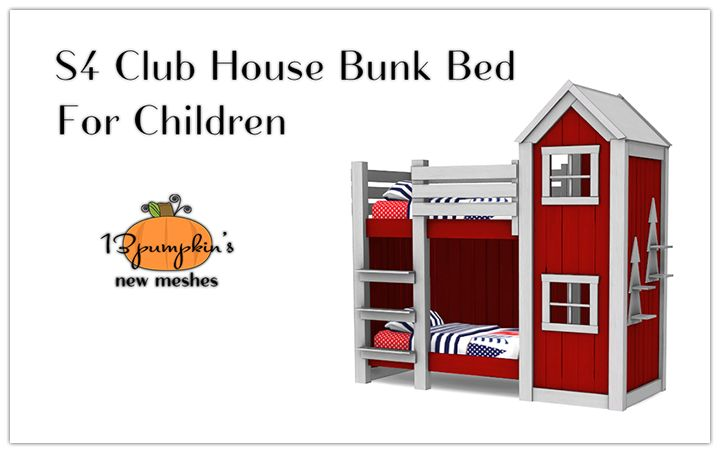 P Toddler Bed Club House Sims