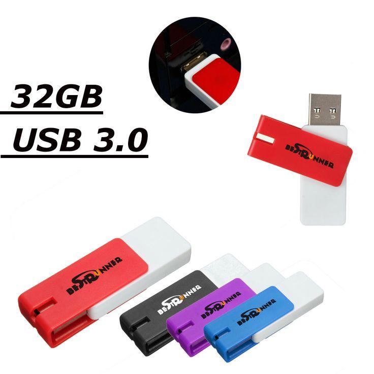 Usb 32gb 3.0 memoria de almacenamiento giratorio unidad flash bestrunner disco u plegable