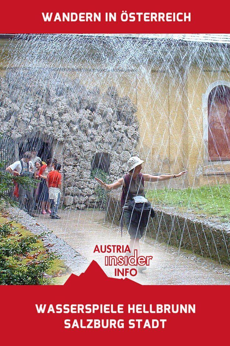 Wer an heißen Sommertagen gerne etwas erfrischt werden will, der sollte die Wasserspiele Hellbrunn samt seinem Lustschloss aufsuchen.