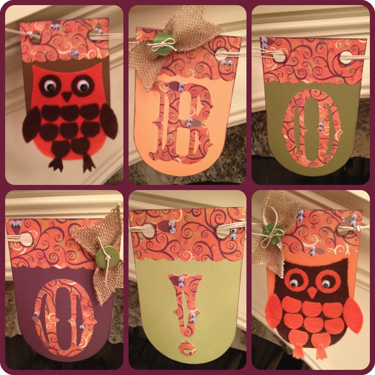 Fall banner cut out using Cricut Artiste from CTMH, Moonlight paper pack