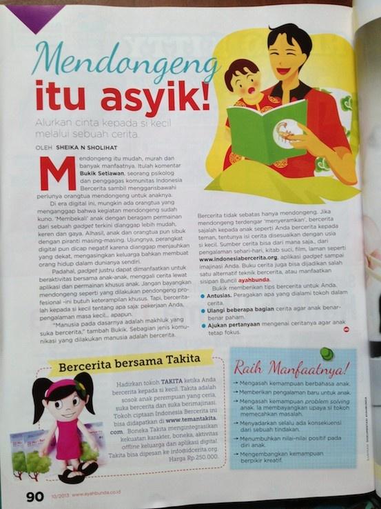 Ingin anak cerdas? Berceritalah pada anak Bagaimana caranya? Ini tips yang dimuat di Majalah Ayahbunda No 10  Simak dan share ya