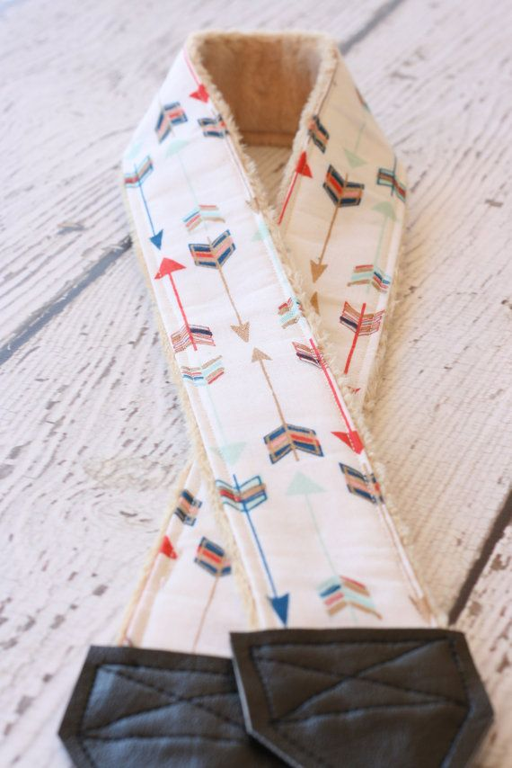 Arrow Camera Strap/. dSLR Camera Strap. Camera Strap. Cute Camera Strap. Camera Strap for Nikon, Canon. Gift for Her.  We love our dSLR Camera, but
