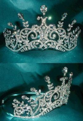 """Tiara of the Royal Princess of Ossetia.""  We're clear that this is fantasy, right? Prettier than average faux."