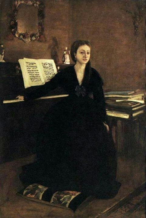 Edgard DEGAS. Madame Camus al piano.1869