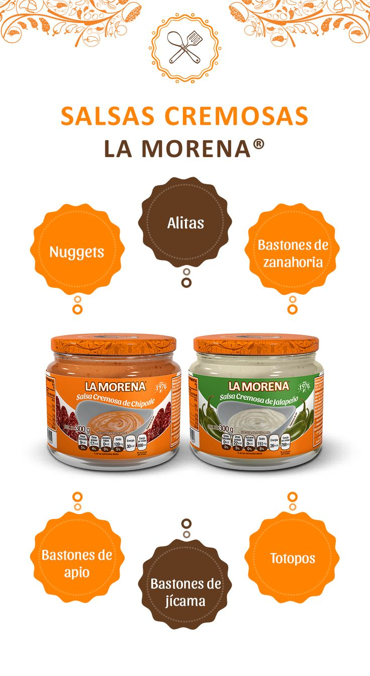 ¿Ya sabes con qué botanas puedes combinar las Salsas Cremosas La Morena?