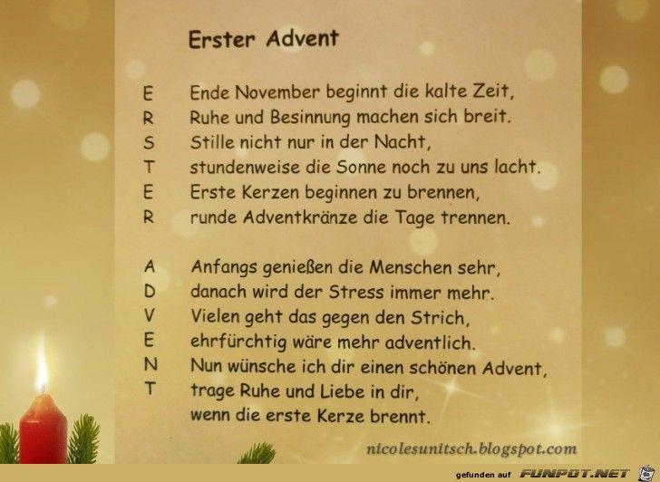 Erster Advent Gedicht Gedichte Zum Advent Erster Advent