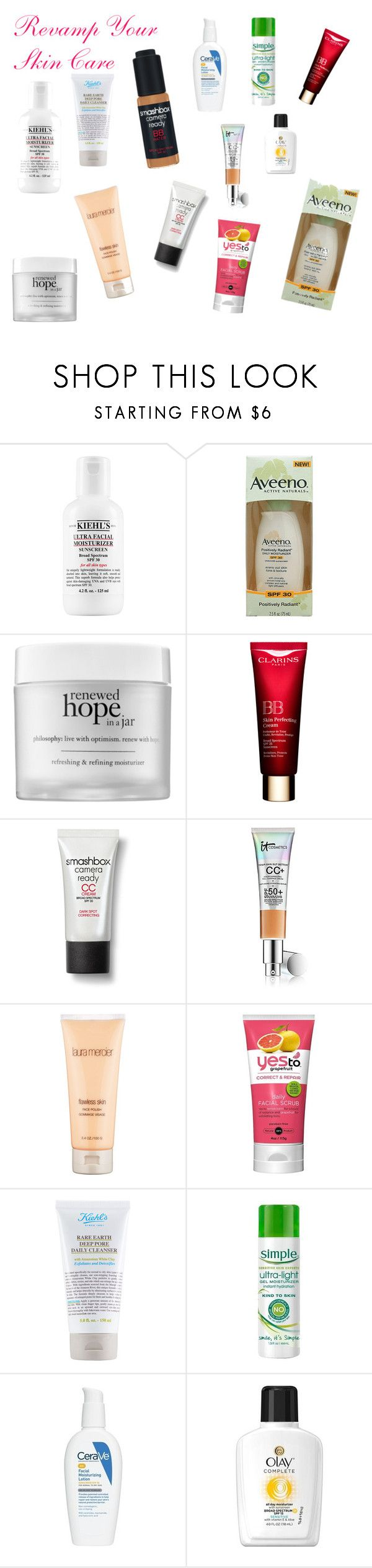 """""""Revamp Your Skin Care"""" by yayielle on Polyvore featuring beauty, Aveeno, philosophy, Smashbox, Laura Mercier, CeraVe and Olay"""