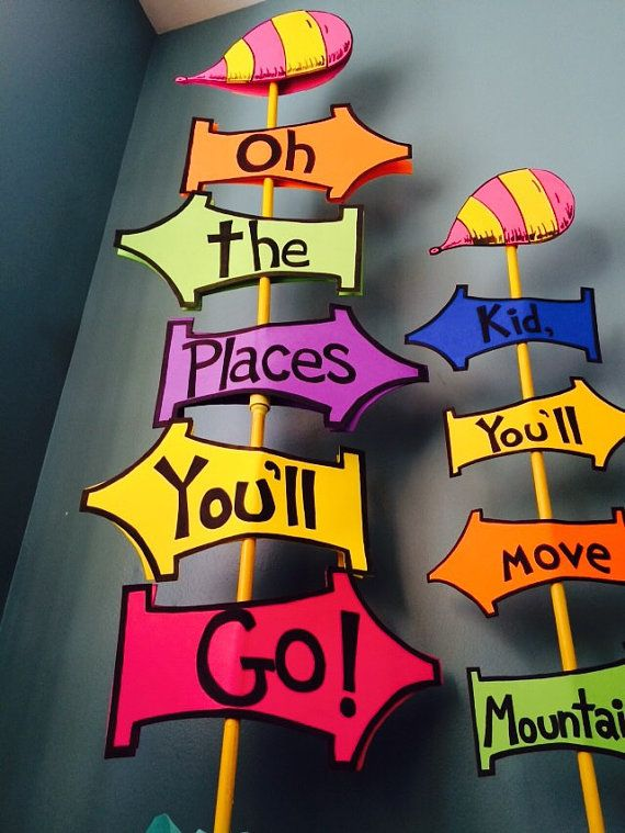 This is a picture of Dramatic Oh the Places You'll Go Arrows Printable