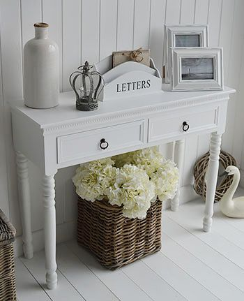 White New England furniture . Console table for hall