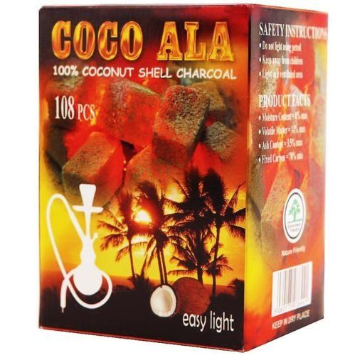 #Coco Ala Coconut shell charcoil is delighted to bring you this great way to smoke cleaner tasting shisha. These unique 100% natural hookah charcoals are made fr...