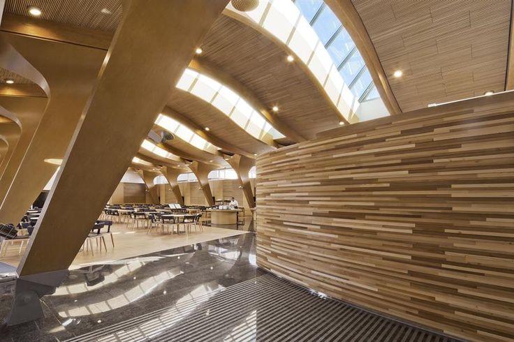 Metsä Group's head office Matsätapiola has wooden structures