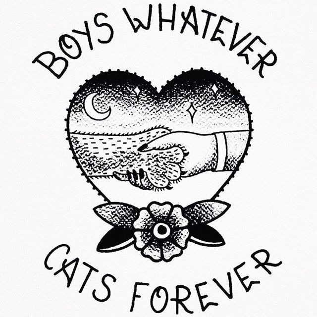Boys Whatever Cats Forever Cat quotes boy quotes love quotes boys quote tattoo quote old school american socks