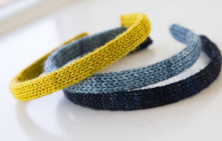 knit headbands -- free knitting pattern -- great way to use up stash yarn