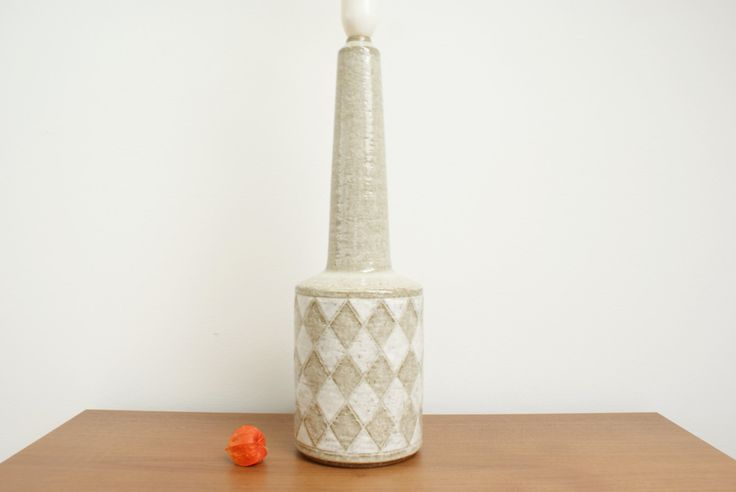 Very big lamp base from Palshus Denmark. Mid century pottery. Chamotte. by Danishartpottery on Etsy