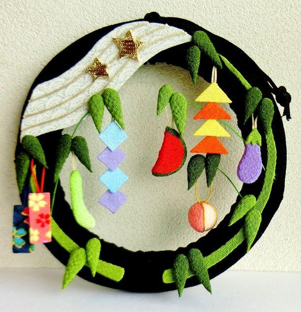 Chirimen wreath-Star Festival
