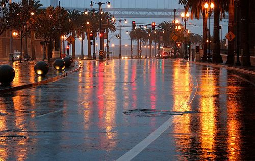.: The Roads, Bays Area, Favorite Places, Romantic Places, Beautiful, Rainy Roads, Things, Street Lights, Cities Lights
