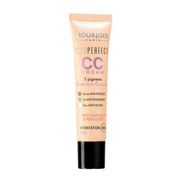 Bourjois 123 Perfect Colour Correcting cream ($12) ❤ liked on Polyvore featuring beauty products, makeup, bourjois cosmetics, bourjois makeup and bourjois