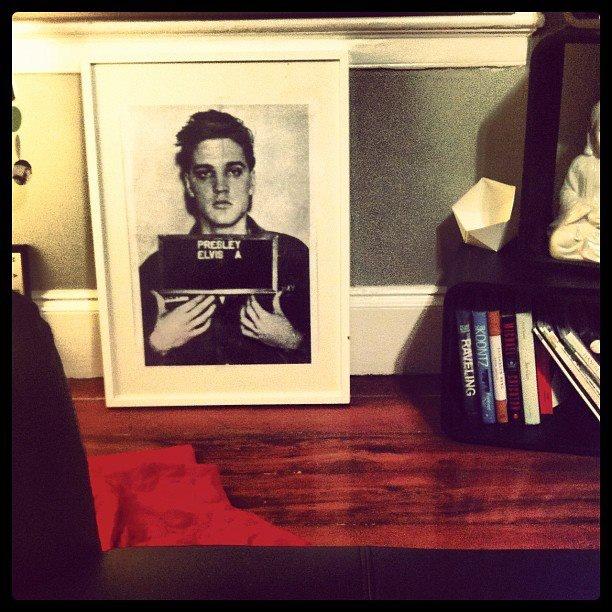 Elvis's shame in a frame.