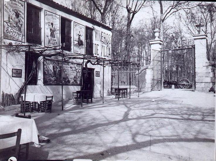 1900-Merendero Viveros de Villa a la entrada de la Casa de Campo