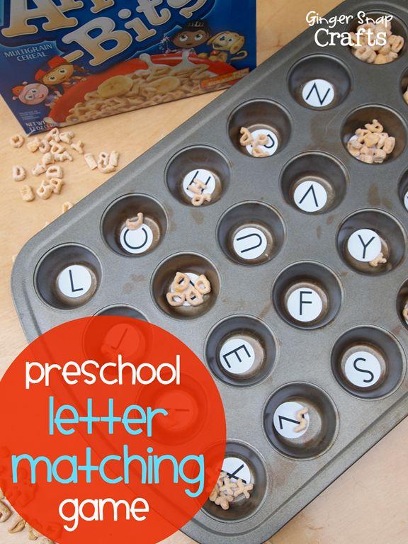 Easy Preschool Letter Game with Alpha-Bits #sponsored #alphabits