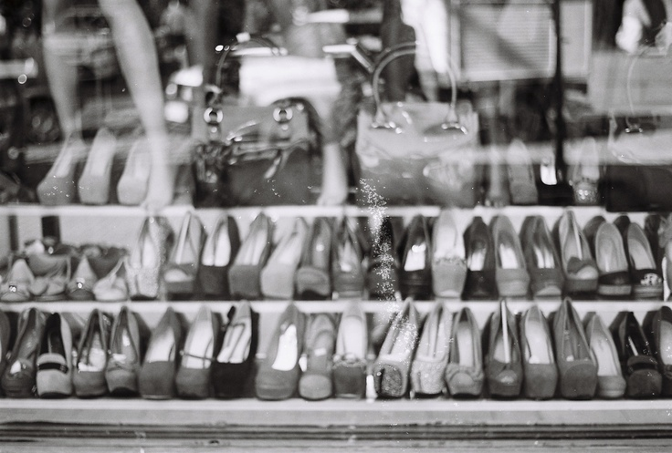 pentax k1000 black and white film -street heels