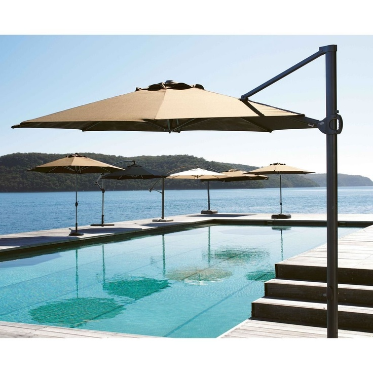 Roma Rose Umbrella - Great to cover a pool or provide shade without taking up a lot of room!