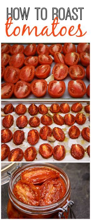 The BEST way to slow-roast any kind of tomato. Just 5 minutes of prep and you end up with delicious tomatoes for appetizers, sandwiches, pasta, salads, and tons of other dishes. Perfect for all those garden tomatoes this summer!