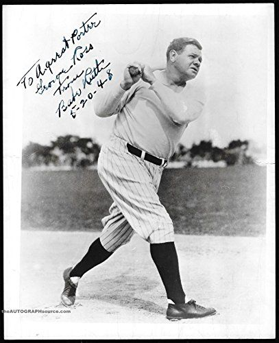 Babe Ruth Autographed Baseball Photograph - signed in 1948 >>> Details can be found by clicking on the image.