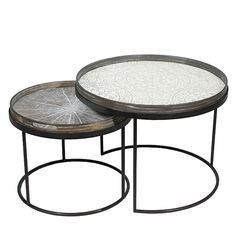 Round Tray Tables - Set - Low - by Notre Monde
