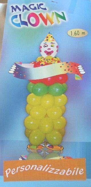 Pagliaccio da comporre con i palloncini. Kit completo di istruzioni e palloncini da gonfiare e assemblare. Realizza il tuo clown che arrederà la festa di compleanno. By C&C Creations Store