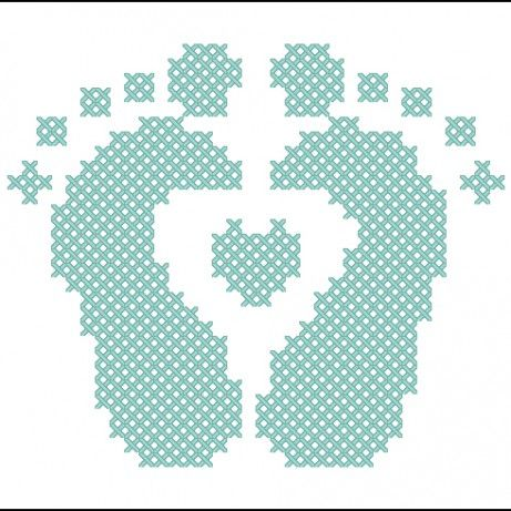 baby feet cross stitch | piedini punto croce