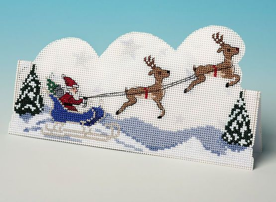 Sleigh Ride 3D Cross Stitch Card Kit £11.30 | Past Impressions | The Nutmeg Company
