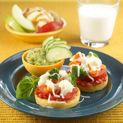 Mini Pizzas: Replace boring crust with softer polenta and swap tomato ...