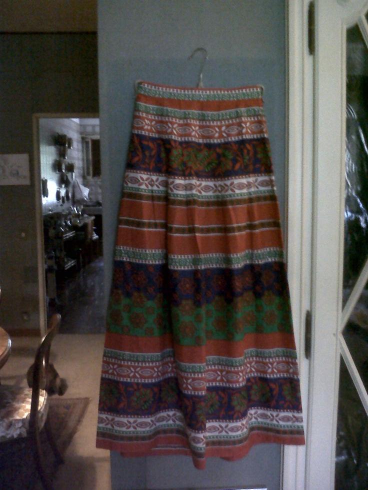 A very 70s long cotton skirt