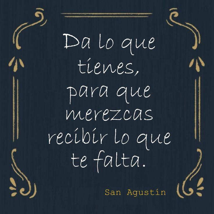 """#Frases de #Santos """"Da lo que tienes para que merezcas recibir lo que te falta""""...San Agustín 🌟Razones espirituales por las que deberías dar LIMOSNA http://forosdelavirgen.org/89576/limosna-en-cuaresma-2015-02-19/"""