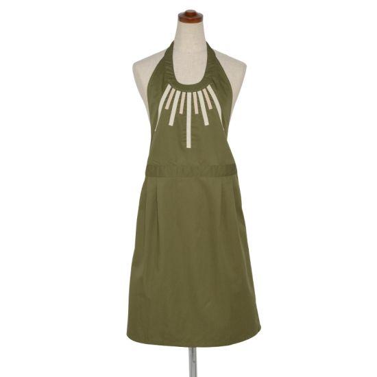 Halterneck apron- army green