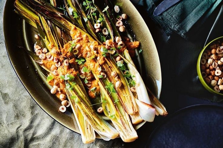 Melbourne restauranteur Andrew McConnell is a stickler for seasonal veggies when preparing meals and these leeks have the lot!