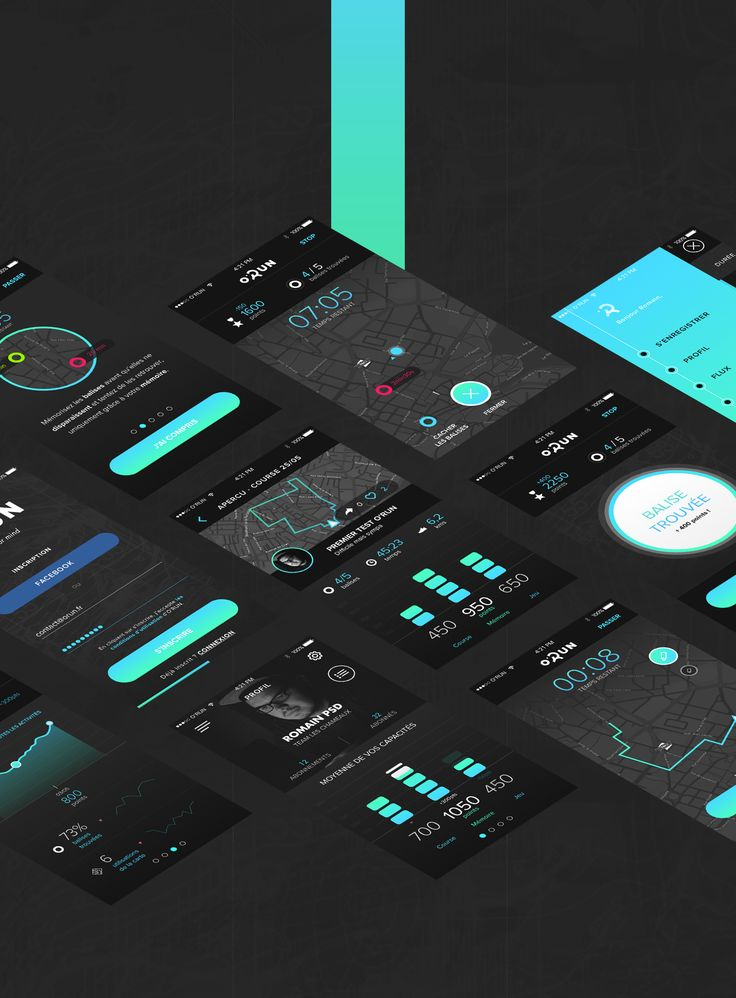 O'RUN Application on Behance