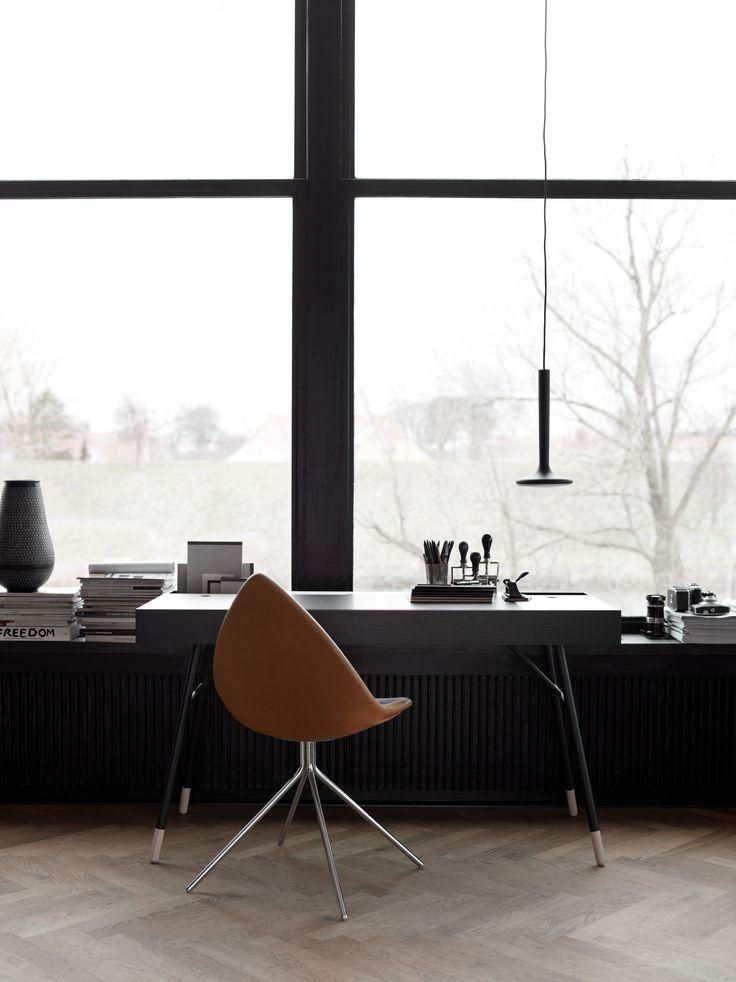 Home Office: Cupertino Schreibtisch Mit Ottawa Stuhl. #boconcept  #scandinaviandesign #interiordesign #