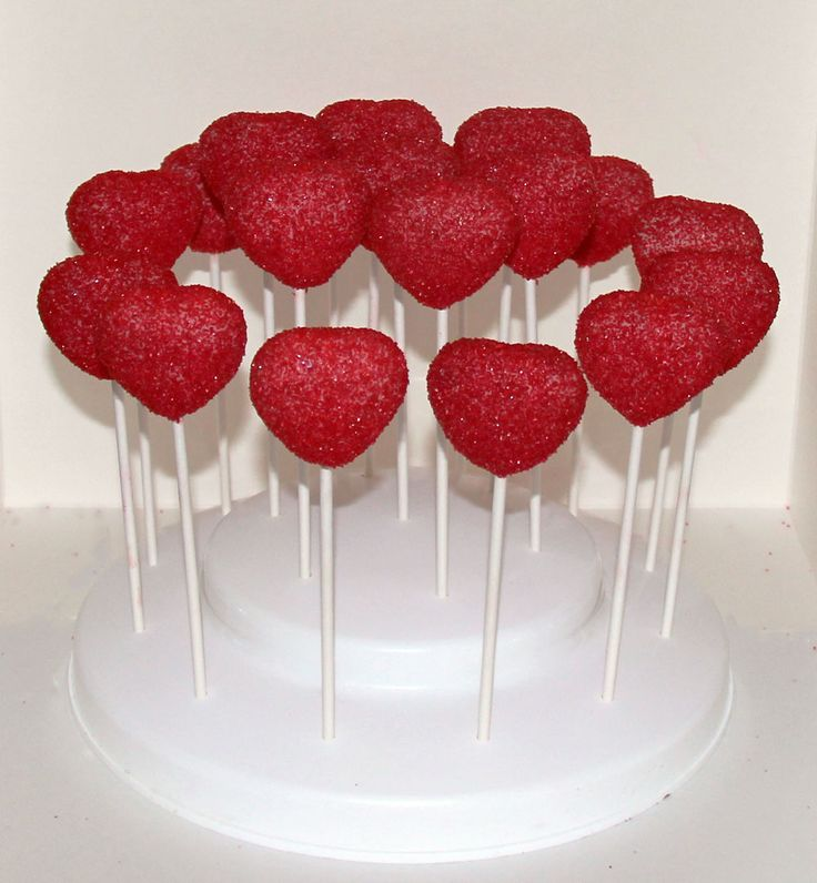 Red Heart Cake Pops Like us at www.facebook.com/melianndesigns