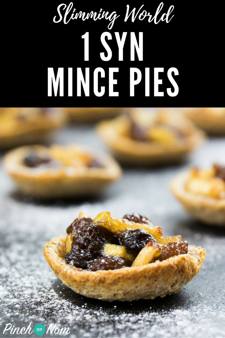 1 Syn Mince Pies | Slimming World Recipes - pinchofnom.com