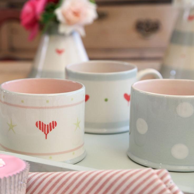 Blue/White Spot Straight Mug | Susie Watson Designs