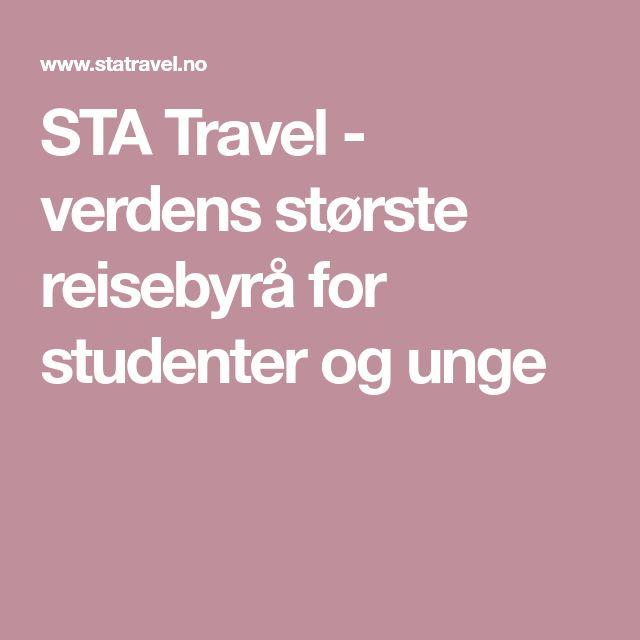 STA Travel - verdens største reisebyrå for studenter og unge