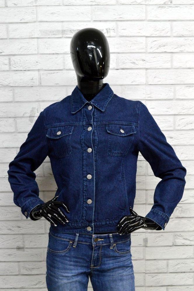 c2e98f211d732 Giubbino MAX   CO Donna Woman Taglia 42 Giacca Jacket Imbottito Blu Jeans