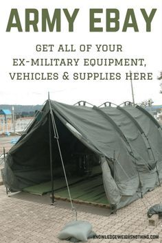 Are you interested in some ex-military equipment? If so, you've come to the right place...